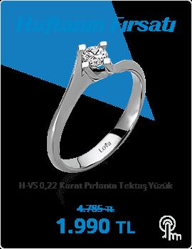 H-VS 0,22 Karat Pırlanta Tektaş Yüzük (Haftanın Fırsatı - Son Gün 4 Ekim Pazar)